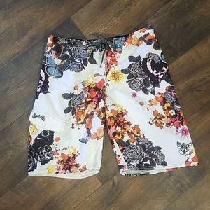 Billabong floral board shorts